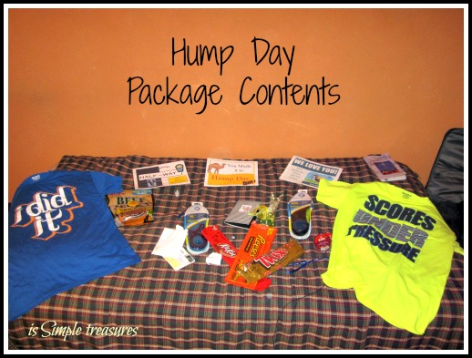 hump day package contents